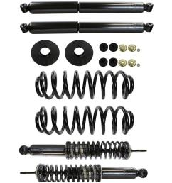 air spring to coil spring conversion kit 1997 2002 ford expedition 4 6l 5 4l [ 1000 x 1000 Pixel ]