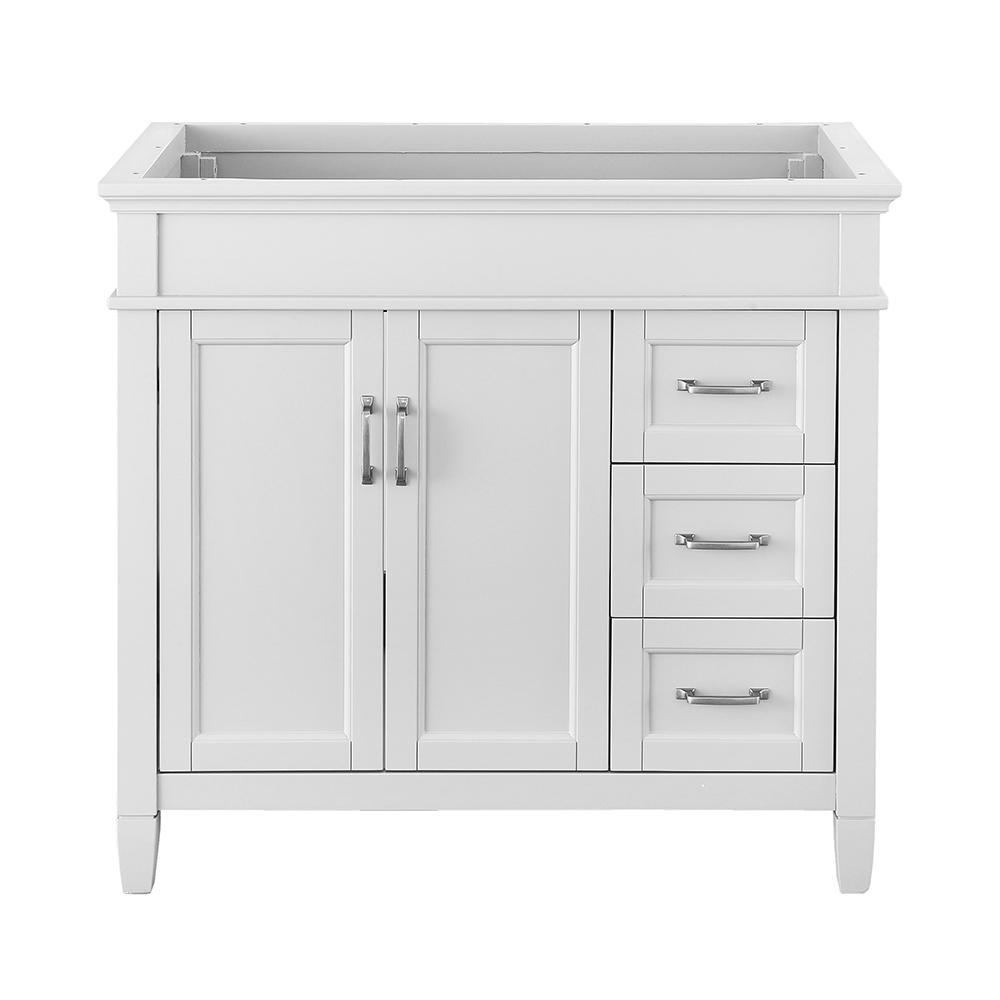Home Decorators Collection Ashburn 48 In W X 21 75 In D Vanity Cabinet In White Aswa4821dr The Home Depot