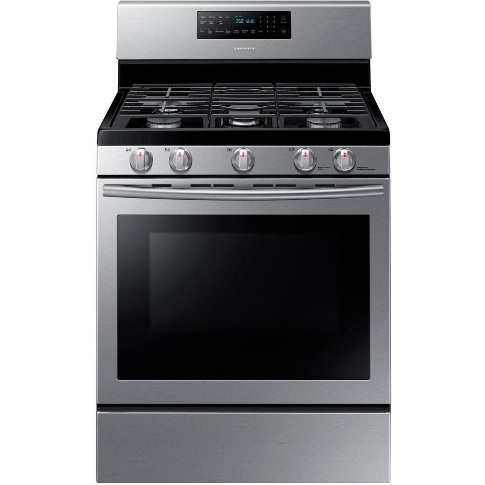 kitchen aid gas stove copper light fixtures ranges the home depot range with self cleaning and fan