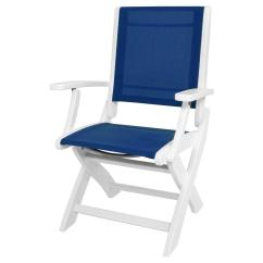 Royal Blue Chairs Chair Gym Instruction Manual Polywood White Sling Coastal Patio Folding 9000