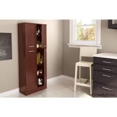 Furniture Kitchen Pantry Redesigning A South Shore Axess 4 Door Royal Cherry Food 7146971 The Home Depot
