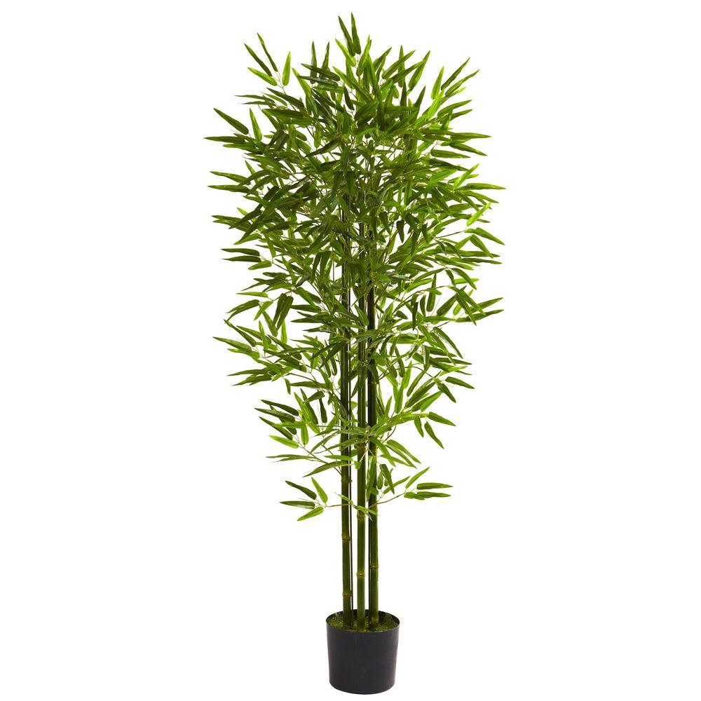 Nearly Natural 5 Ft UV Resistant IndoorOutdoor Bamboo
