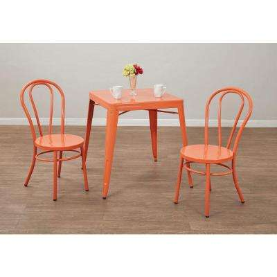 orange kitchen chairs melissa and doug accessories dining room furniture the home depot odessa solid metal chair