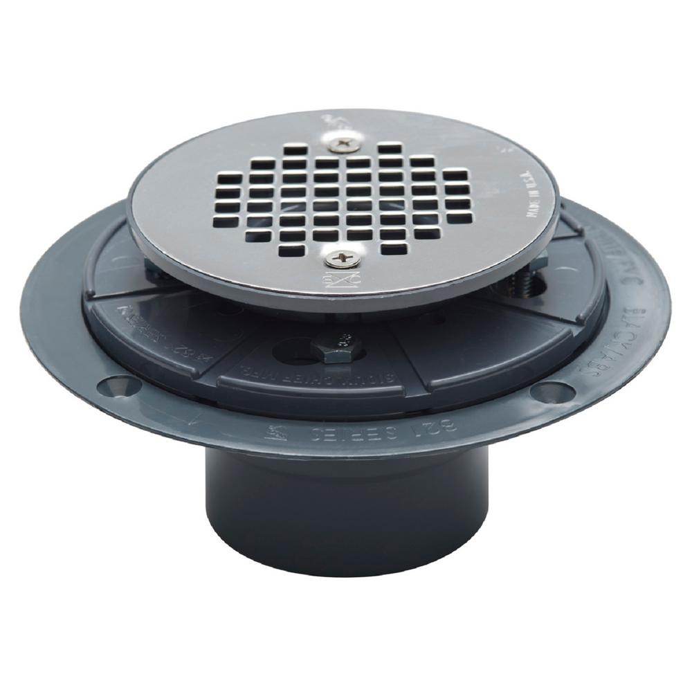 Sioux Chief 2 in PVC Shower Drain with Strainer8212PPK