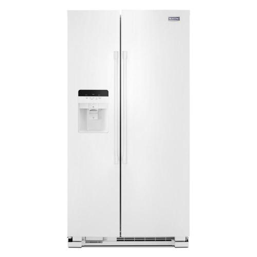 small resolution of maytag 25 cu ft side by side refrigerator in white with exterior ice and