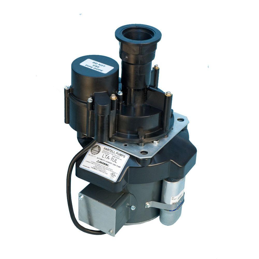 medium resolution of 1 8 hp sink drain laundry tray pump