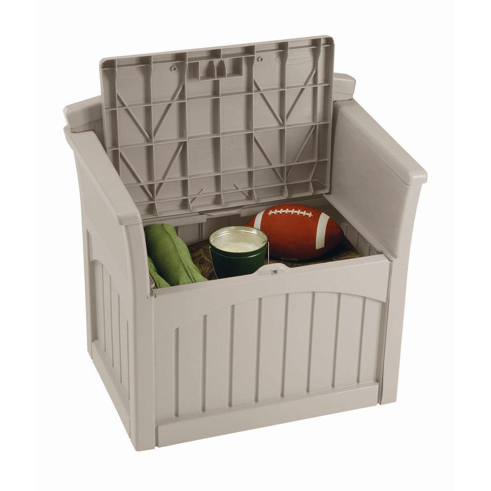 Patio Storage Box Outdoor Deck Yard Seat Garden Porch Pool Lockable 31  Gallon | Ebay