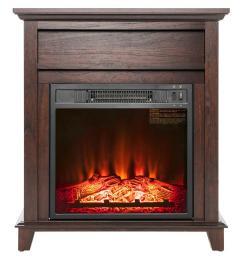 freestanding electric fireplace heater in wooden lifesmart  [ 1000 x 1000 Pixel ]