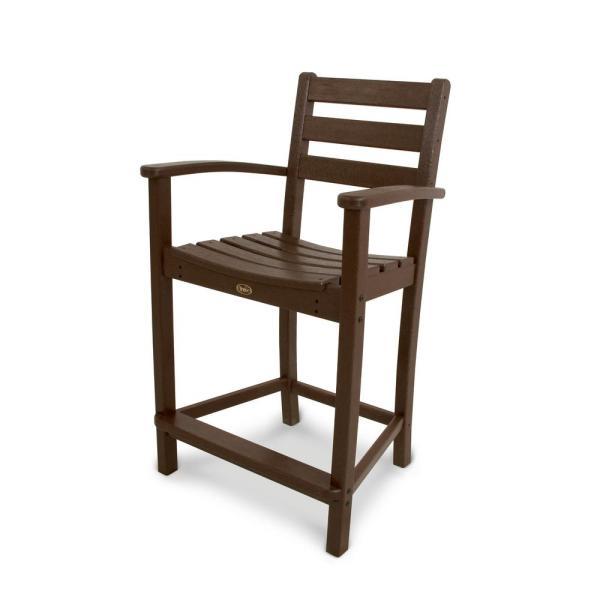 Trex Outdoor Furniture Monterey Bay Vintage Lantern Patio Counter Arm Chair-txd201vl - Home