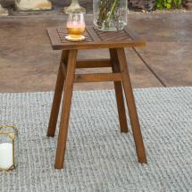 Walker Edison Furniture Company Dark Brown Acacia Wood
