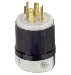 leviton 20 amp 480 volt 3 phase locking grounding plug black white [ 1000 x 1000 Pixel ]