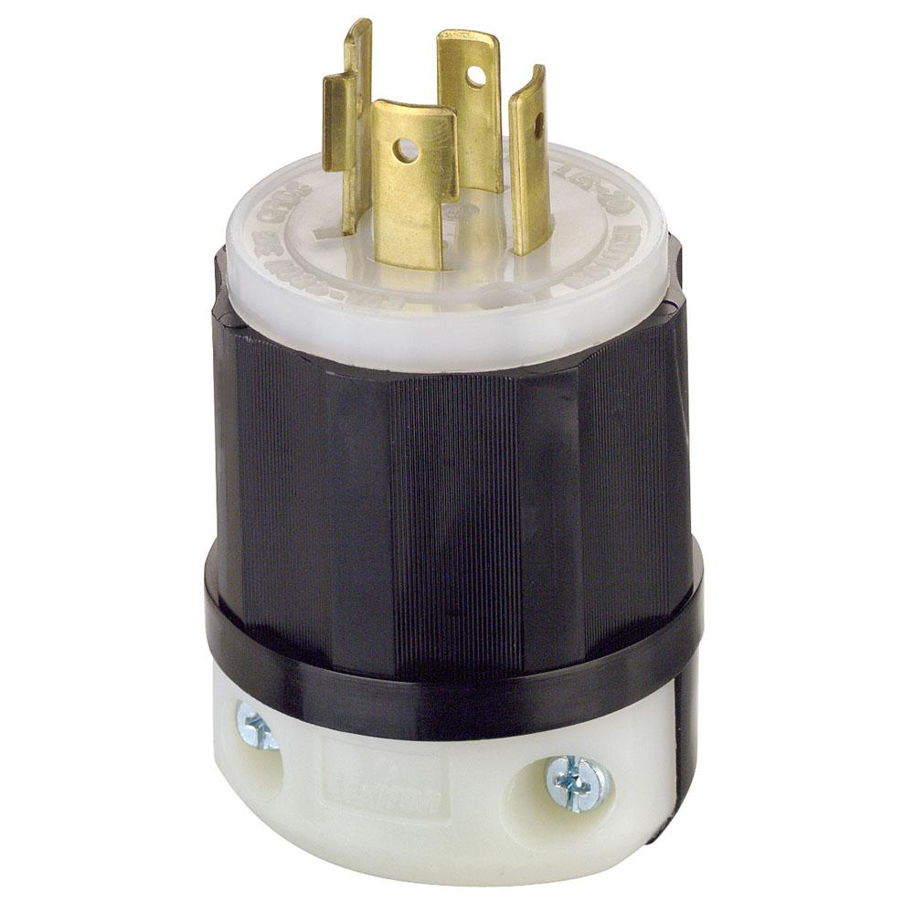 medium resolution of leviton 20 amp 480 volt 3 phase locking grounding plug black white