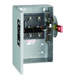 ge 30 amp 240 volt non fused indoor general duty double throw [ 1000 x 1000 Pixel ]