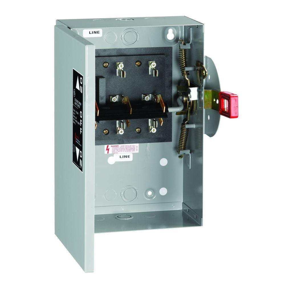 110 Volt A C Compressor Wiring Diagram Ge 30 Amp 240 Volt Non Fused Indoor General Duty Double