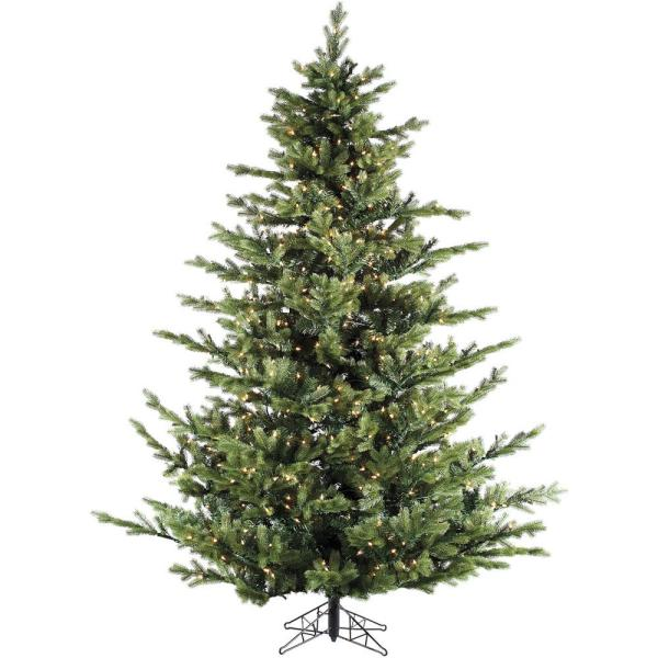 Fraser Hill Farm 12.0 Ft. Pre-lit Foxtail Pine Artificial Christmas Tree With 2000 Clear Smart