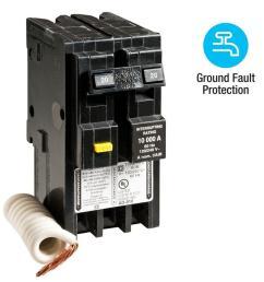 homeline 20 amp 2 pole gfci circuit breaker [ 1000 x 1000 Pixel ]
