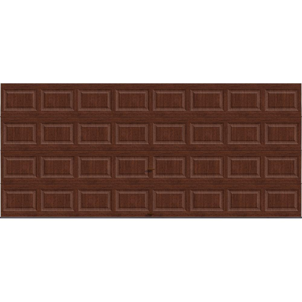 Clopay Premium Series 16 ft x 7 ft 184 RValue Intellicore Insulated Solid UltraGrain Cherry