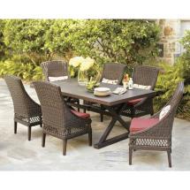 Hampton Bay Woodbury 7-piece Wicker Outdoor Patio Dining