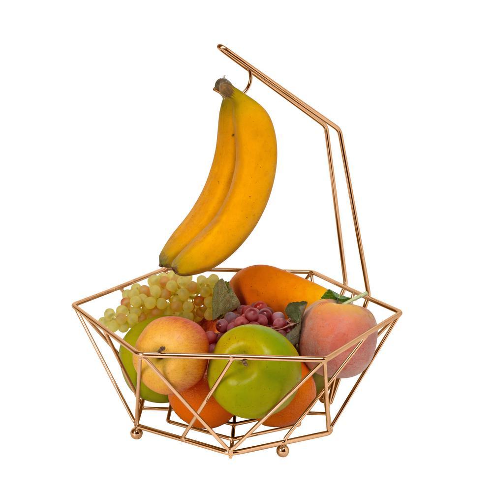 kitchen fruit basket corner booth details geode copper with banana tree 23377