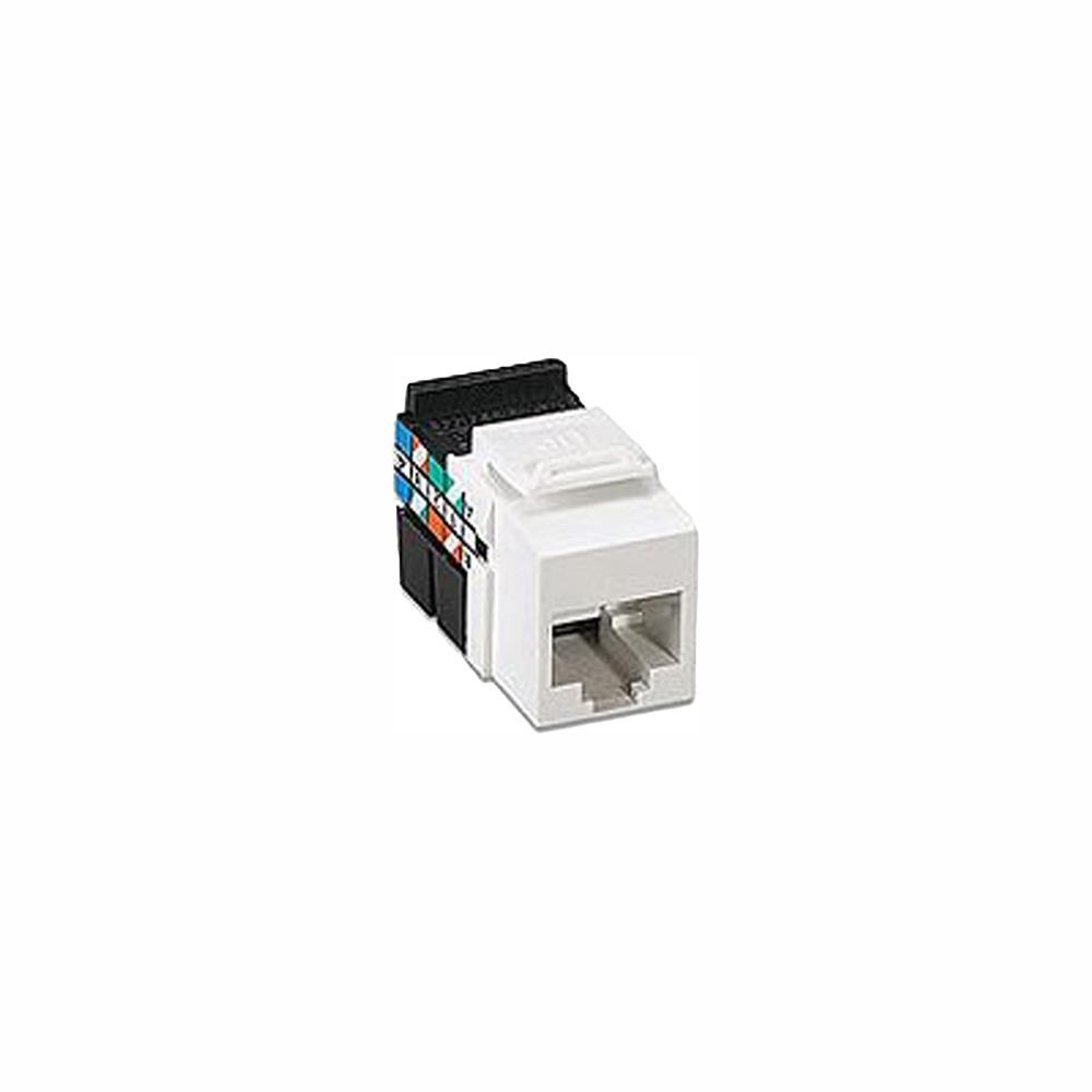 medium resolution of leviton quickport cat 3 connector white 41108 rw3 the home depot leviton voice grade jack wiring diagram