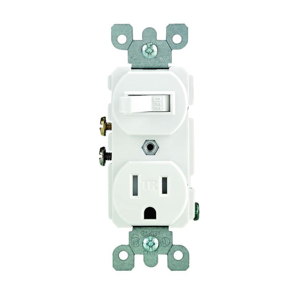switch receptacle combo wiring diagram kohler command leviton 15 amp tamper resistant combination and outlet white