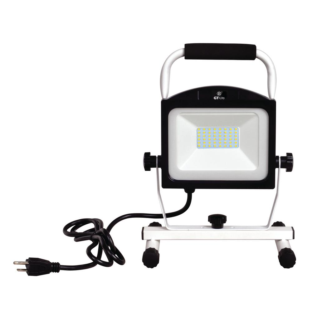 GT LITE 5000 Lumens LED Portable Work Light With Grounded Power Cord GT 507 AC The Home Depot