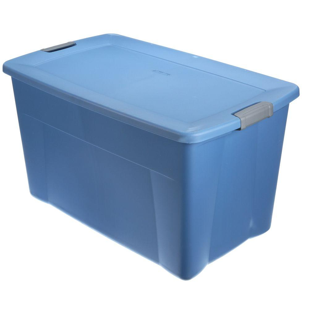 Best Kitchen Gallery: Sterilite Latching 35 Gal Storage Tote In Lapis Blue 19451004 The of Plastic Storage Containers on rachelxblog.com
