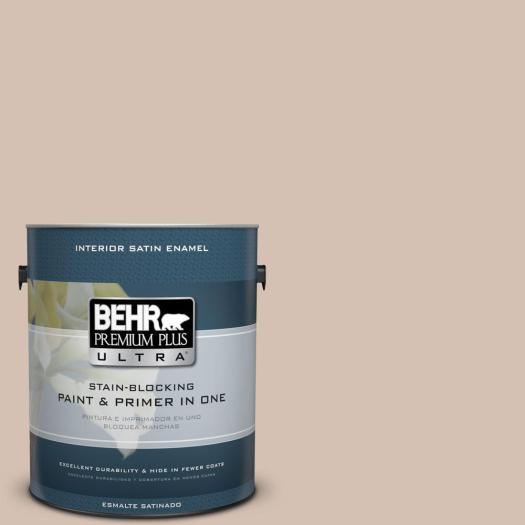 Behr Premium Plus Ultra Home Decorators Collection 1 Gal Hdc Ac 04 Avenue Tan Satin Enamel Interior Paint 775401 The