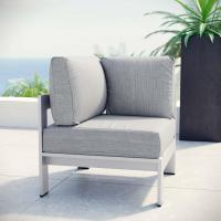 MODWAY Shore Patio Aluminum Corner Outdoor Sectional Chair ...