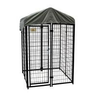 KennelMaster 4 ft. x 4 ft. x 6 ft. Welded Wire Dog Fence
