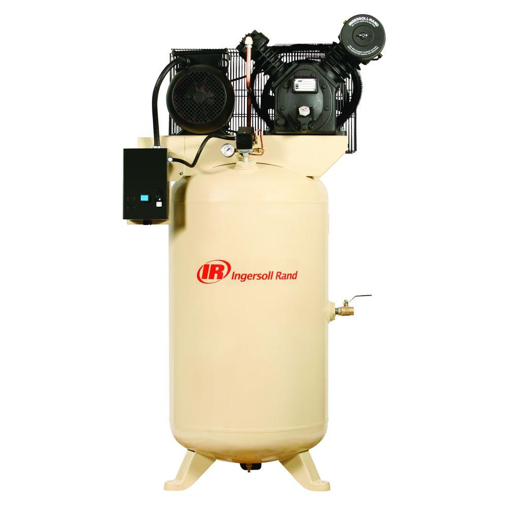 hight resolution of ingersoll rand type 30 reciprocating 80 gal 7 5 hp electric 230 volt single