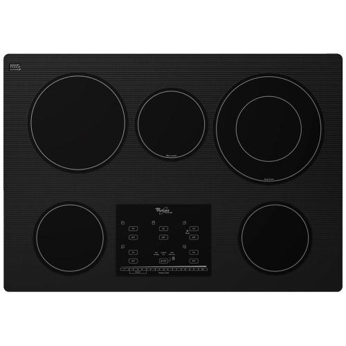 small resolution of radiant electric cooktop in black with 5 elements including accusimmer