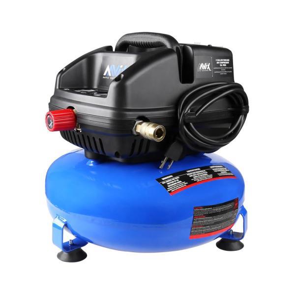 Aavix 3 Gal. Portable Electric 100 Psi Oil- Pancake Air Compressor-a12101 - Home Depot