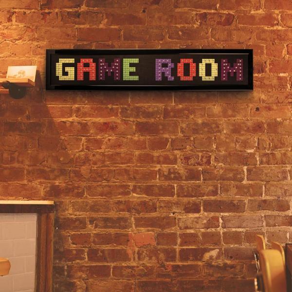 Crystal Art Game Room Framed Led Sign-114060 - Home Depot