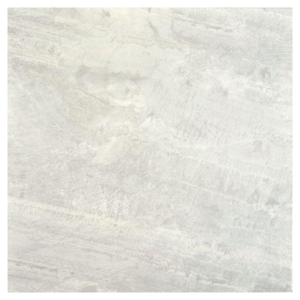 TrafficMASTER Light Grey 18 in. x 18 in. Slate Peel and