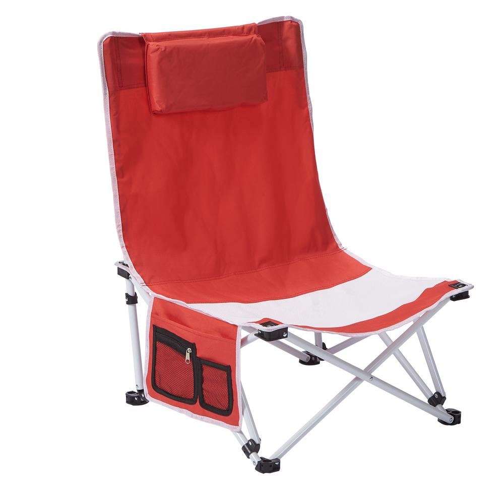 Low Folding Beach Chair 1 Position Beach Patio Chair 5600415 The Home Depot