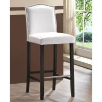 Baxton Studio Libra White Faux Leather Upholstered 2-Piece ...