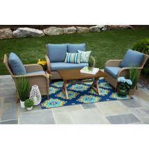 Canopy Tupelo 4-piece Resin Wicker Patio Deep Seating Set