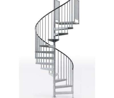 Spiral Staircase Kits Stair Parts The Home Depot | Replacement Handrail For Spiral Staircase | Curved Staircase