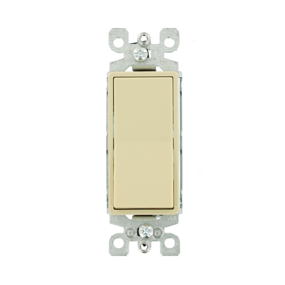 medium resolution of leviton 15 amp decora residential grade 3 way lighted rocker switch ivory
