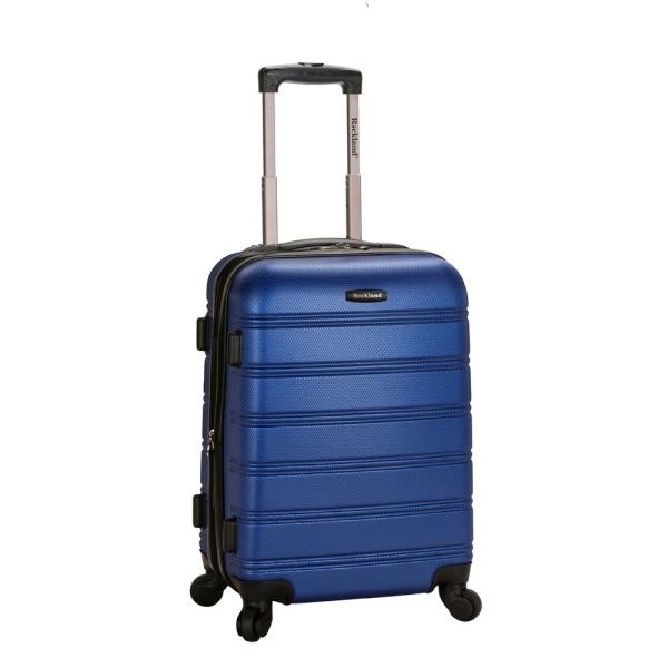 Rockland Melbourne 20 In. Expandable Carry Hardside Spinner Luggage Blue-f145-blue