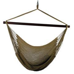 Hanging Chair Rope Alice In Wonderland Hammock Hammocks Patio Furniture The Home Depot Polyester Tan