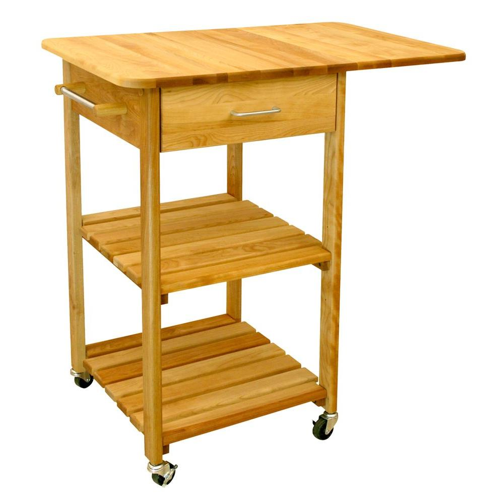 small kitchen carts themed bridal shower catskill craftsmen natural cart with towel bar 7227 the