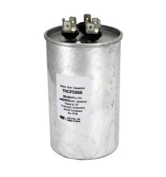packard 440 volt 55 5 mfd dual rated motor run round capacitor trcfd555 the home depot [ 1000 x 1000 Pixel ]
