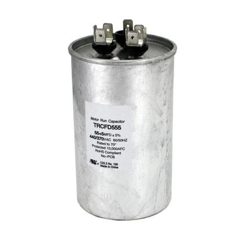 small resolution of packard 440 volt 55 5 mfd dual rated motor run round capacitor trcfd555 the home depot