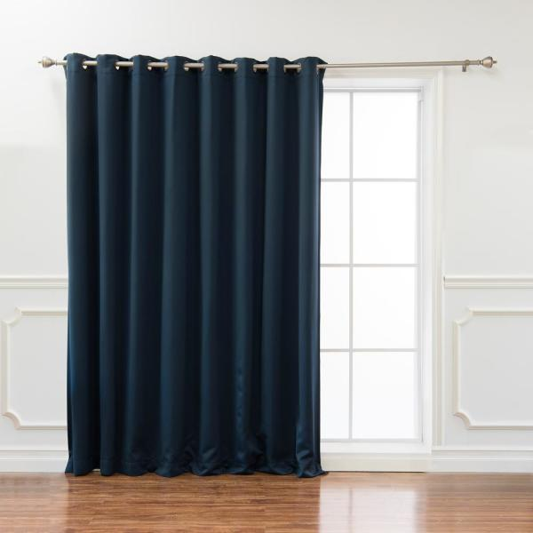 wide basic 100 in w x 108 in l blackout curtain in navy