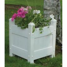 Planter Box Bed Flower Plant White Raised Pot Outdoor