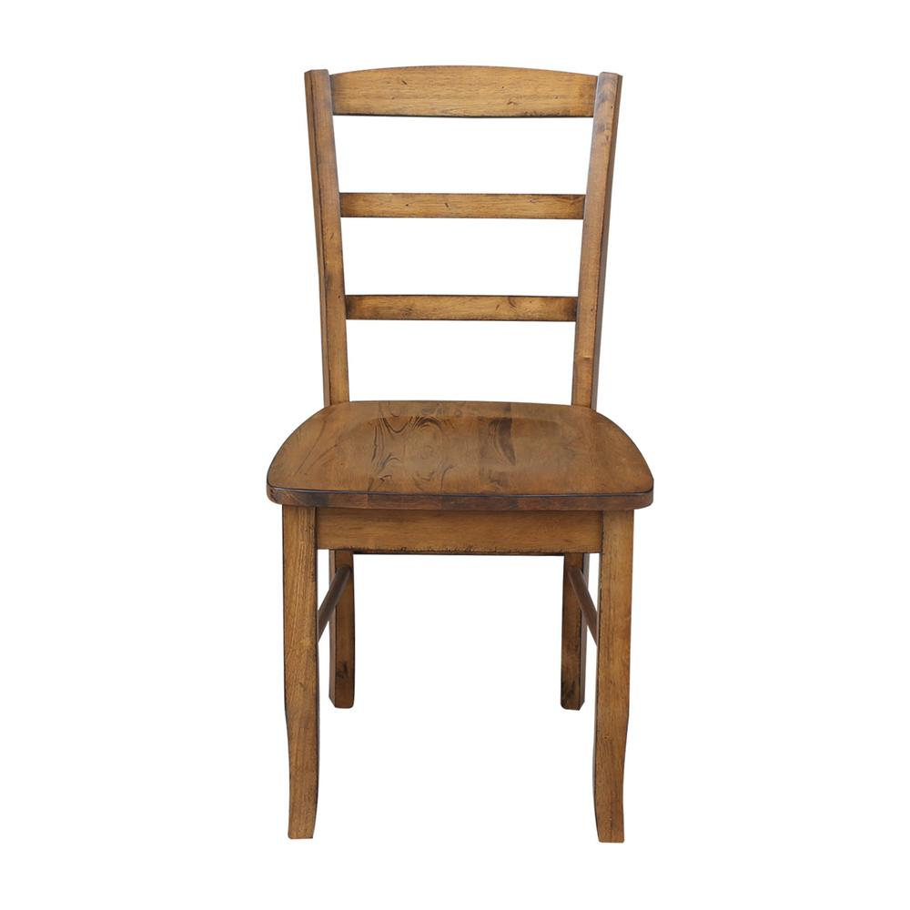 distressed dining chairs shermag rocking chair international concepts madrid pecan set of 2