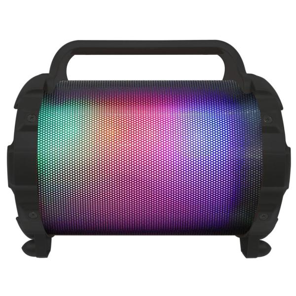 Qfx Bluetooth Speaker Tube With Lights Fm Radio