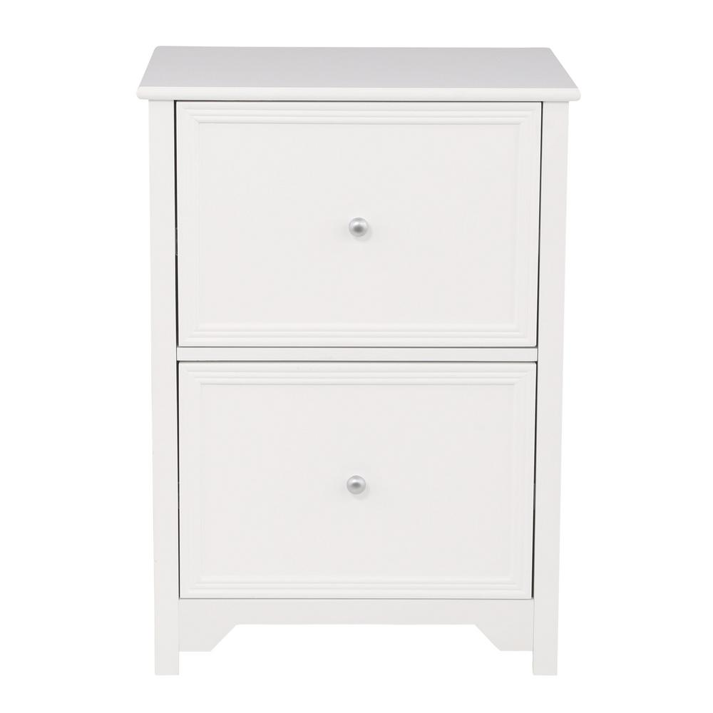 VERTICAL FILE CABINET Oxford White Home Office 2Drawer